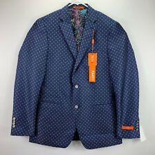 Tallia Mens Slim Fit Jacquard Dinner Jacket Blue 40L