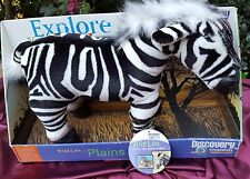 New Wild Life Plains Zebra Plush Doll Discovery Explore World Nature Channel Fre
