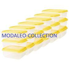18 x IKEA PRUTA  Food container Transparent/yellow Sets Freezer Storage UK-C786