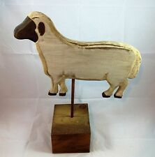 18 Inches Tall Wooden Country Style Sheep