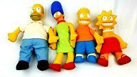 4 Simpson Family Plush Doll Vinyl Heads 1990 Matt Groening 20th Century Fox