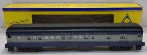 American Models S Baltimore & Ohio Hi-rail Heavyweight Combine Car #1443 LN/Box