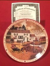 "Bradford Exchange ""Hometown Memories"" Collector Plates #4 Of 6 w/Coa"