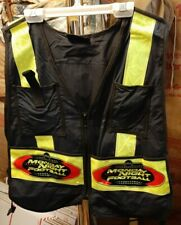 NOS SEE-BAK Cycling Work Vest Highly Reflective Safety One Size Black RARE NFL