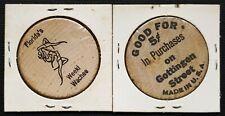 Florida's Weeki Wachee & Gottingen Street Wooden Nickels