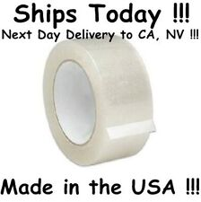 """72 Roll 2"""" Clear Packing Shipping Box Tape *2mil 110yd*"""