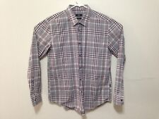 G588 Hugo Boss Ronny Men's Windowpane Check L/S Dress Button Shirt XL Slim Fit