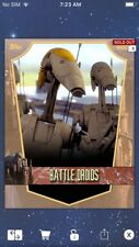 Topps Star Wars Digital Card Trader Yellow Naboo Battle Droids Insert