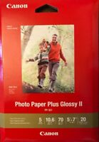 Canon photo paper plus glossy II 5x7 20 sheets