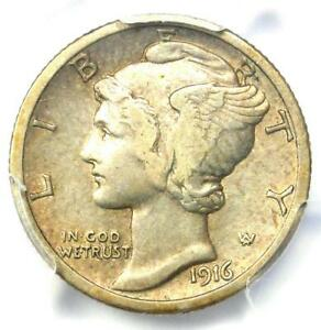 1916-D Mercury Dime 10C Coin - Certified PCGS XF Details (EF) - Rare Key Date!
