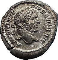 CARACALLA 212AD Silver Authentic Ancient Roman Coin ANNONA  Prosperity i73241