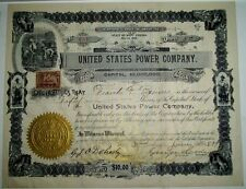 1899 UNITED STATES POWER COMPANY Stock Certificate