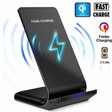 10W Qi Wireless Fast Charging Charger Dock Stand Pad for Galaxy S10 S9 iPhone 11
