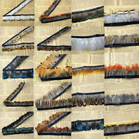 Hackle pheasant Feather Fringe Trim 1or 5 yards Sewing/Costume/​Millinery/M