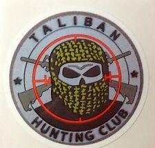RAT ROD HOT ROD DECAL CHOPPER BOBBER TATTOO  STICKER     TALIBAN  HUNTING  CLUB