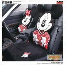 ** 9 Piece Polka Dot Mickey and Minnie Mouse Fluffy Winter Car Seat Covers **