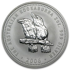 2006 2 oz Silver Australian Kookaburra Coin - Brilliant Uncirculated -SKU #11420