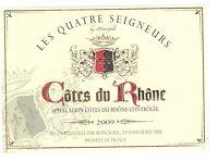 Tag Wine - Wine Label - Sides Rhône - The four lords - 2009