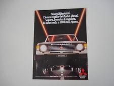 advertising Pubblicità 1985 MITSUBISHI PAJERO 4X4 TURBO DIESEL