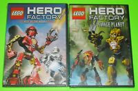 Kid DVD Lot - LEGO Hero Factory Rise of the Rookies (New) Savage Planet (New)