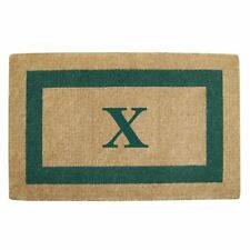 Creative Accents Single Picture Green Frame Heavy Duty Coir Doormat, 30x48in,'X'