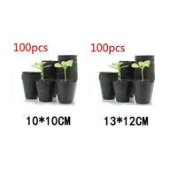 100pcs Seedling Raising Bag Nursery Pot Plant Flowers Pouch Garden Plastic Pack