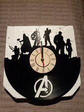 Marvel Avengers Record Album vinyl Wall Clock New battery custom hulk thor