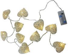 10 Blanc Chaud LED Feux de Coeur en Rotin - Décoration D'intérieur (L220)