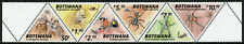 Botswana Spiders Stamps 2020 MNH Spider Fauna 6v Strip