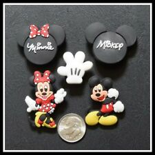 SET of 5 Shoe Charms for Crocs Disney World MICKEY MINNIE GLOVE MOUSE EARS