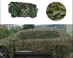 13x10ft Camo Net Woodland Camouflage Netting Military Hunting w/ String Backing