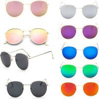 New Men Women's Vintage Round Sunglasses Cute Retro Oversized Mirror Glasses