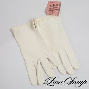 NWT DEADSTOCK Vintage Fownes White Unlined Deerskin Leather Gloves GOLDEN AGE 8