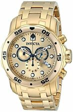 Invicta Men's Pro Diver Chronograph 200m Gold Plated Stainless Steel Watch 0074