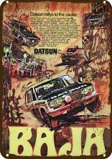1970 DATSUN Race Car Art Vintage Look Replica Metal Sign  BAJA MEXICAN 1000 RACE