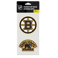 "5627 WinCraft NHL Boston Bruins 47975011 Perfect Cut Decal (Set of 2), 4"" x 4"""