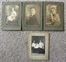 SET OF 5 PHOTOS - VINTAGE CHILDREN STUDIO PORTRAITS - 1 FROM WATERTOWN, SD