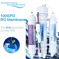 3 Stage Portable Aquarium Countertop Reverse Osmosis System Water Filter 100GPD