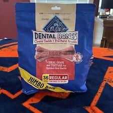 New listing Blue Buffalo Dental Bones Natural Adult Dental Chew Dog Treats 36oz 25-50lb Dogs