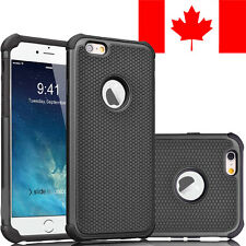 HARD + SOFT RUBBER SHOCKPROOF CASE COVER FOR IPHONE 6 PLUS /  6S PLUS (BLACK)