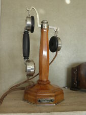 antique PHONE TELEPHONE ART DECO RETRO wooden vintage century ventroux