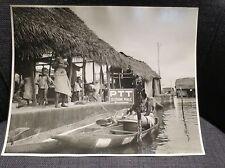 AFRIQUE NOIRE ancienne photographie seins nus cabine téléphone public