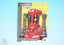2013 Fleer Marvel Retro Deadpool Sketch Card Jeffrey Benitez Original Base #10