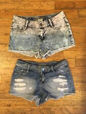 Decree Jeans High Waisted Denim Shorts Size 3 Distressed Cutoffs Lot of 2