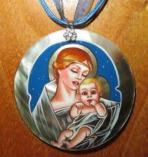 J.C. Leyendecker Pendant Madonna & Child Christmas Saturday Evening Post SHELL