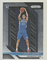 2018-19 Panini Prizm #199 LANDRY SHAMET RC Rookie 76ers QTY AVAILABLE