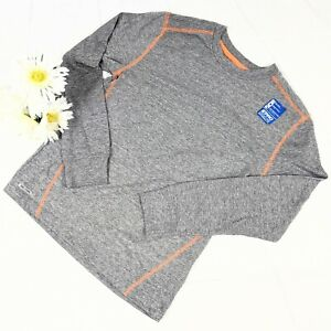NWT Starter Pro Dri-Star Performance Gray w/ Orange L/S Boys T-Shirt SZ Y-L