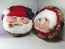 SANTA & MRS. CLAUS GRANDMA and GRANDPA CHRISTMAS WREATHS