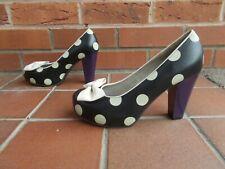 Lola Ramona Black Polka Zapatos De Plataforma * s5 Reino Unido * Rockabilly Swing De * * VLV * Nuevo