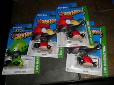 4 LOT HOT WHEELS ANGRY BIRDS MINION GREEN & RED HW IMAGINATION
